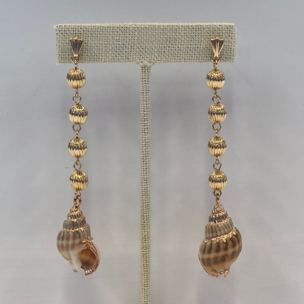 Four Drop Shell Earrings
