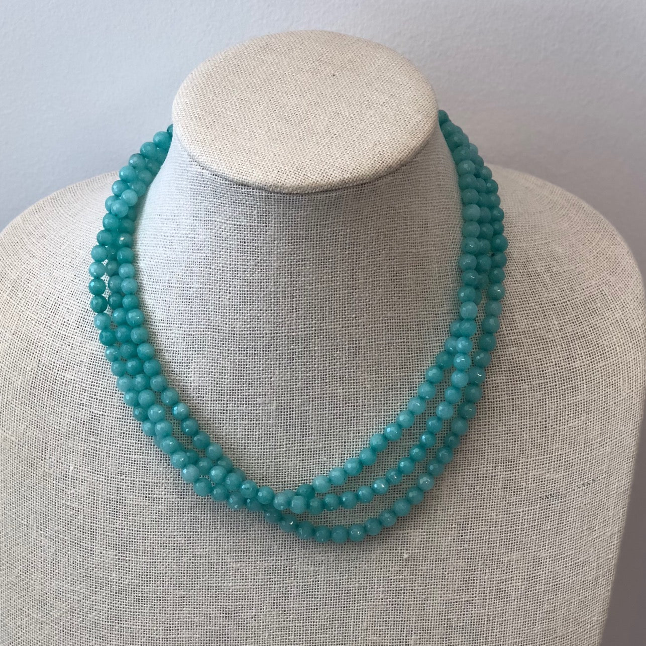 MVF Layered Gemstone Aqua Necklace