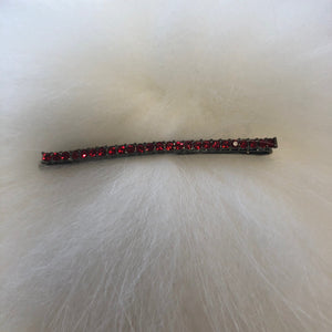Crystal Bobby Pin Red