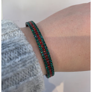 Load image into Gallery viewer, Red/Green Stretch Cuff