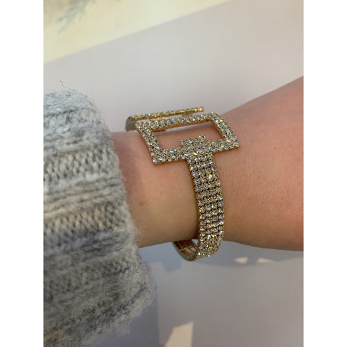 Double Square Adjustable Cuff Gold
