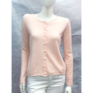 Cortland Park Pearl Button Cardigan Blush Pink