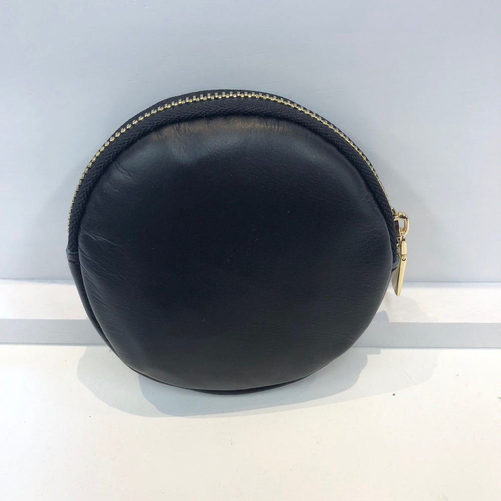 Leather And Black Hide Coin Purse