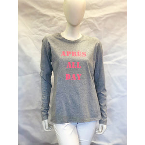 Pink Colony Long Sleeve Après All Day Top Pink/Grey