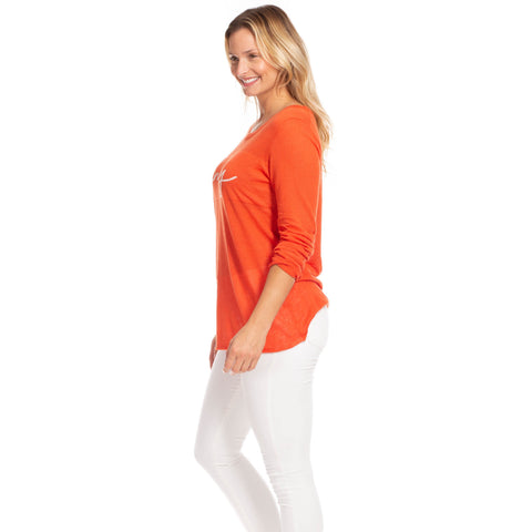 Duffield Lane Linen Knotty Sweater Poppy