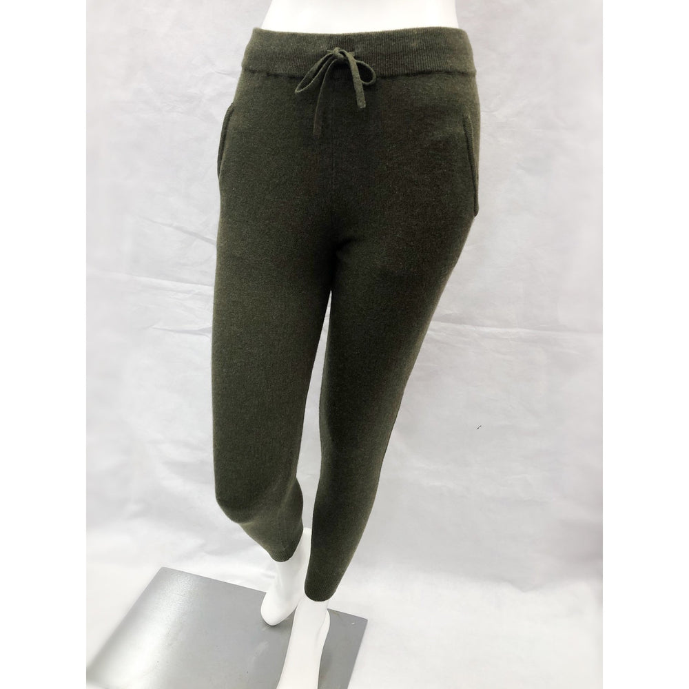 Brodie Cashmere Ankle Joggers Army Green