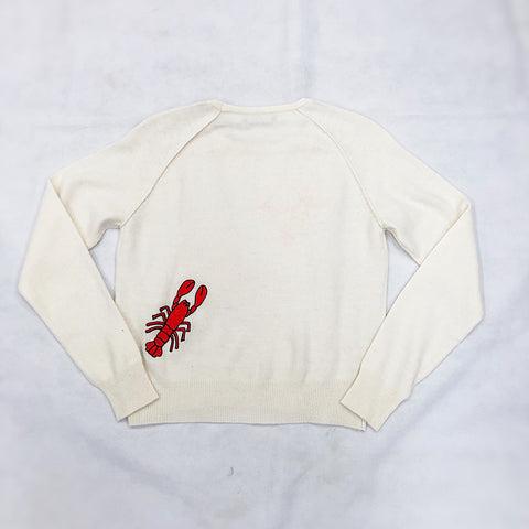 Brodie Cashmere Rock Lobster Sweater Organic White