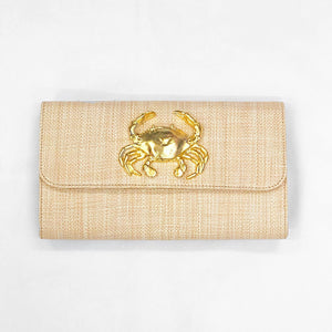 Lisi Lerch Avery Straw Clutch Crab