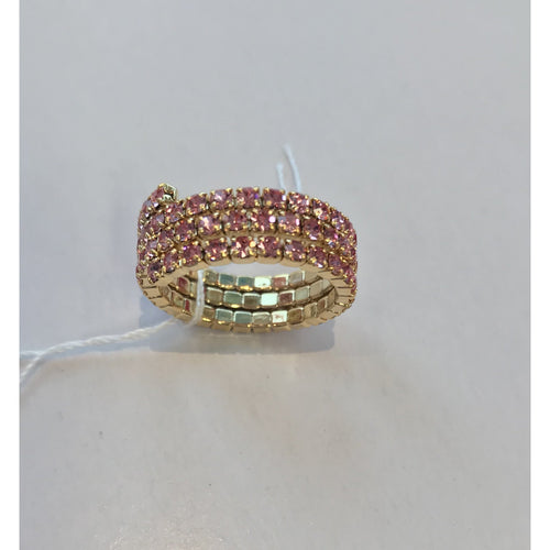 Triple Band Stretch Ring Pink
