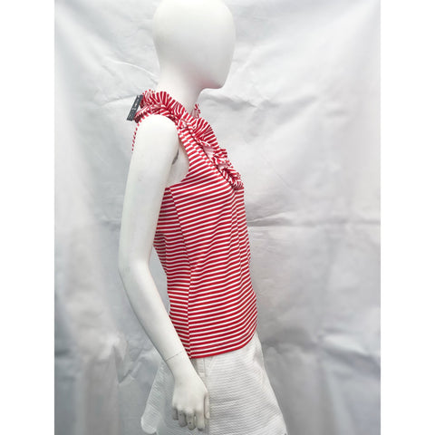 Sailor Sailor Skipper Ruffle Top Juicy Stripe Red/White