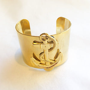 Large Gold Cuff Anchor