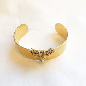 Load image into Gallery viewer, Gold Stag Cuff