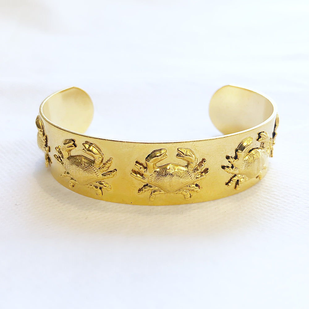 Load image into Gallery viewer, Medium Gold Cuff Crabs
