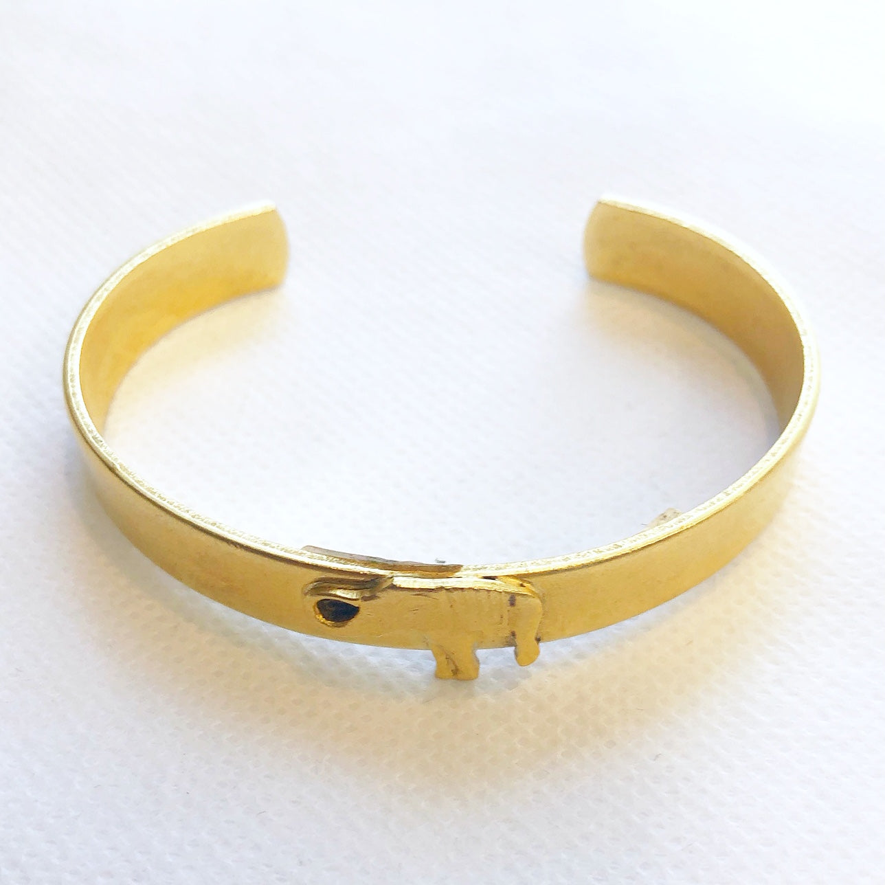 Small Gold Cuff Elephant