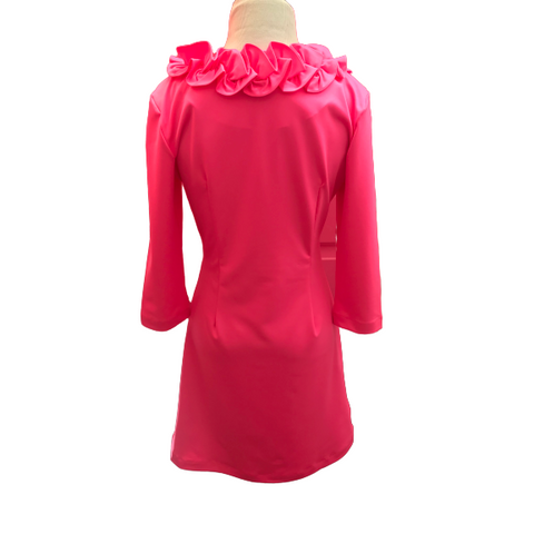 Sailor Sailor Long Sleeved Cricket Dress Hot Pink