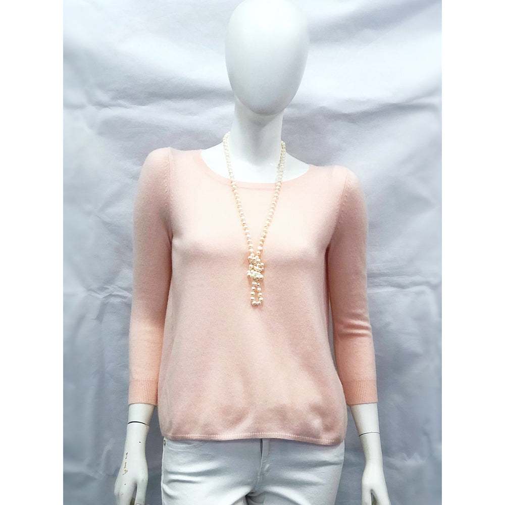 Cortland Park Lindsey Tie Back Sweater Blush Pink