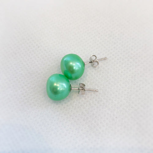 MVF Pearl Studs Mermaid Green