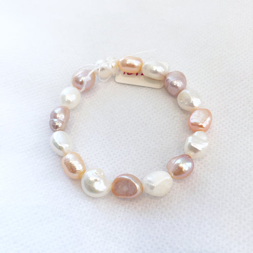 MVF Girls Pearl Stretch Bracelet Multi
