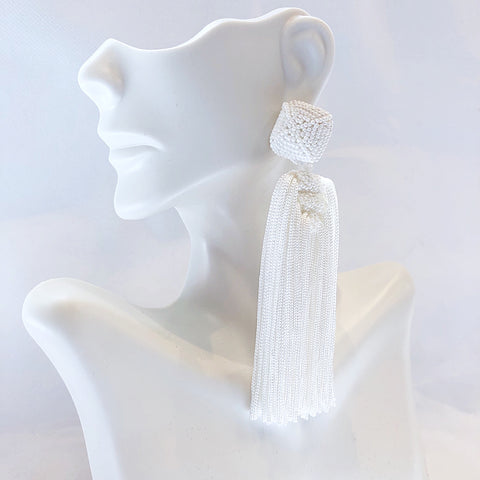 "St. Armands Designs of Sarasota La Jolla ""All Day"" Tassels White"