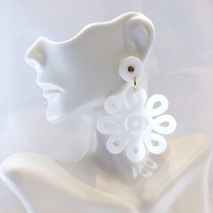 Load image into Gallery viewer, Lisi Lerch Cameran Acrylic Earring White