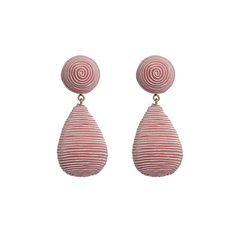 KEP Interchangeable Teardrop Earrings Light Pink