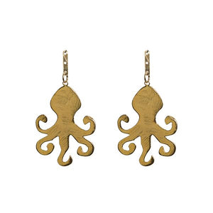 Load image into Gallery viewer, KEP 	Motif Octopus Earring Gold