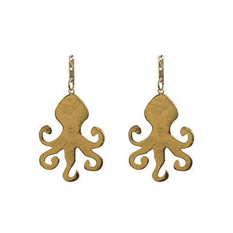 KEP 	Motif Octopus Earring Gold