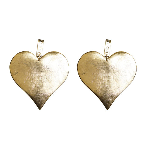 KEP Motif Heart Earring Gold