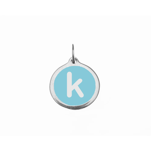 "Small Light Blue ""k"" Charm"