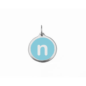 "Small Light Blue ""n"" Charm"