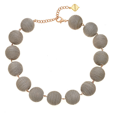 Wellington Pom Statement Necklace Silver