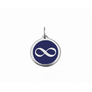 Load image into Gallery viewer, Small Navy Infinity Charm