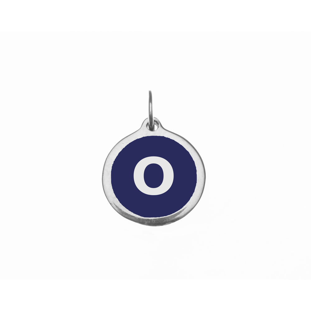 "Load image into Gallery viewer, Small Navy ""o"" Charm"
