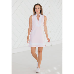 Sail To Sable French Terry Sleeveless Classic Tunic Dress Blush
