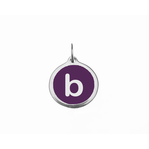 "Small Purple ""b"" Charm"