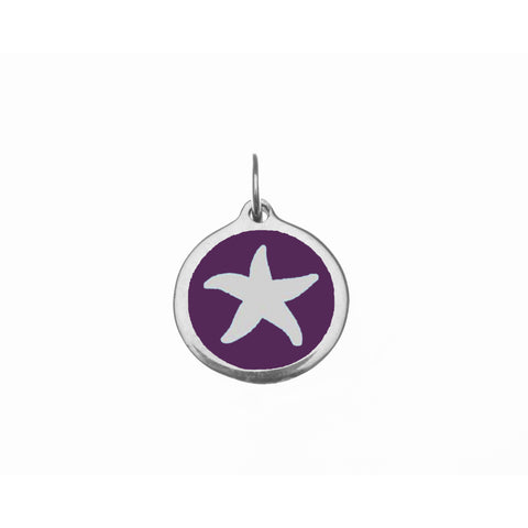 Small Purple Starfish Charm