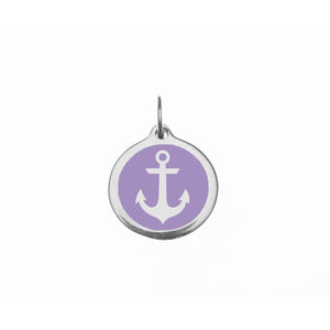 Small Radiant Orchid Anchor Charm