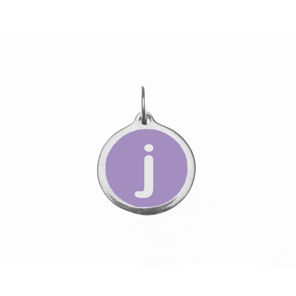 "Small Radiant Orchid ""j"" Charm"
