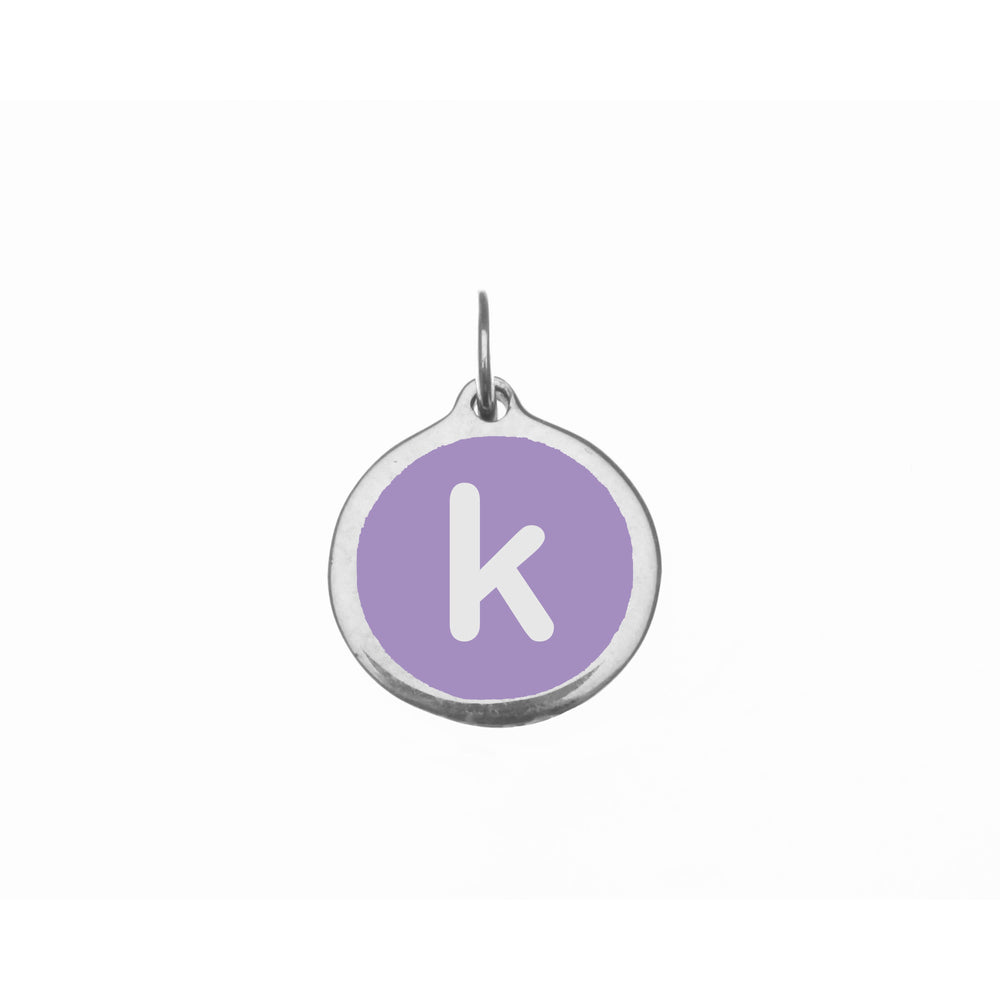 "Small Radiant Orchid ""k"" Charm"