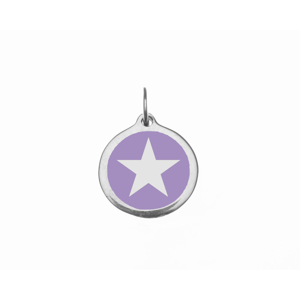 Small Radiant Orchid Star Charm