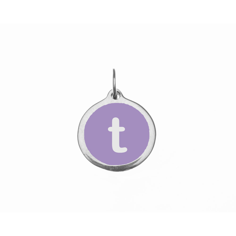 "Small Radiant Orchid ""t"" Charm"