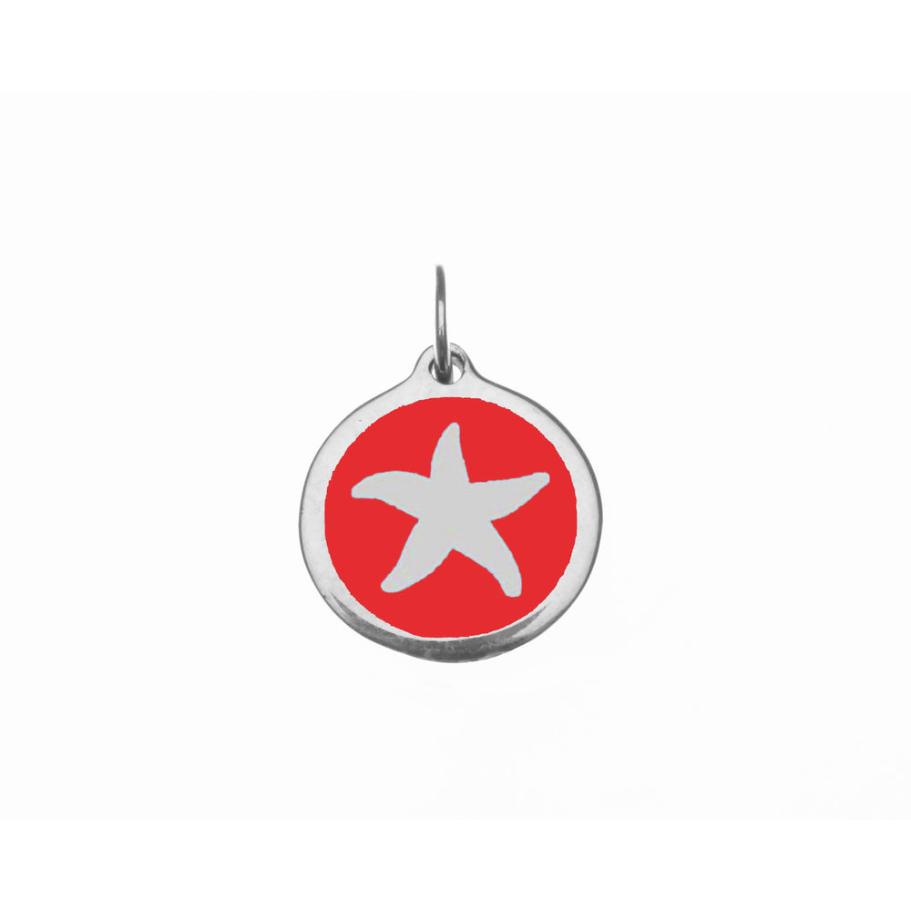 Small Red Starfish Charm