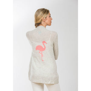 Two Bees Flamingo Cardigan Dove Grey