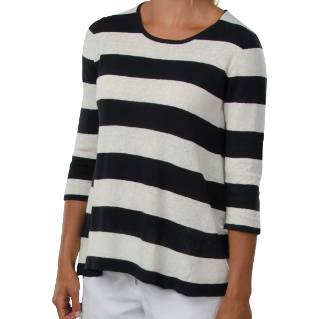 Cortland Park Taylor Striped Top Navy/White