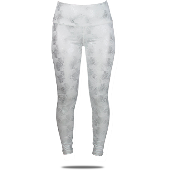 Load image into Gallery viewer, Skea Legging White Silver Galaxy
