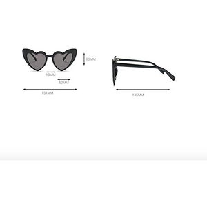 Heart Sunglasses Black