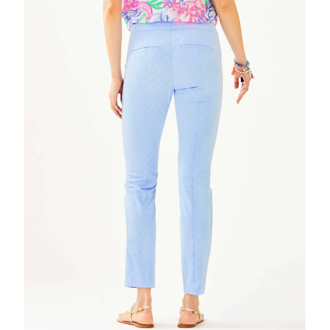 "Load image into Gallery viewer, Lilly Pulitzer 29"" Kelly Skinny Ankle Pant Crew Blue Tint"