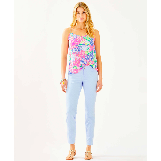 "Lilly Pulitzer 29"" Kelly Skinny Ankle Pant Crew Blue Tint"