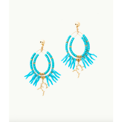 Lilly Pulitzer Island Calypso Earrings Light Aqua