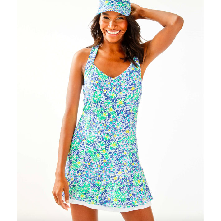 Load image into Gallery viewer, Lilly Pulitzer UPF 50+ Sean Tennis Dress Blue Haven Biancas Love